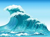 Illustration of the big waves