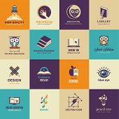Set of art and education icons
