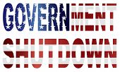 Government Shutdown Us Flag Illustration