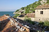 abandoned fishing village of Pristan on the shore of Skadar Lake near Virpazar, Montenegro