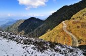 Snowfall At Dzuluk Mountain Road, Sikkim