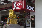 Bangkok, Thailand- Oct 5Th: A Branch Of Kfc On Sukhumvit Road, Bangkok On October 5Th 2012. The Firs