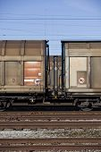 Train wagons connected to each other