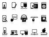 Digital Books And E-books Icons