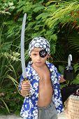 Pirate Kid Standing