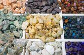 Colourful sem-precious stones