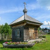 Russia, Uchma, 15 August. Ancient wooden chapel Augdust 15, 2013 in Uglich, Russia.