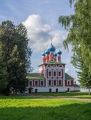 Russia, Uglich, 17 August. Temple of Prince Dmitry