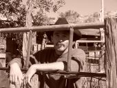 Cowboy Resting In Sepia