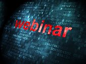 Education concept: Webinar on digital background