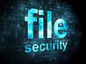 Privacy concept: File Security on digital background