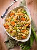 integral pasta with vegetables ragout