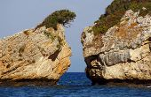 stock photo of zorro  - Rocks on the beach Porto Zorro The island of Zakynthos - JPG