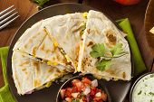 Homemade Cheese And Bean Quesadilla