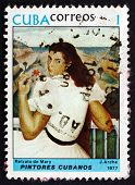 Postage Stamp Cuba 1977 Portrait Of Mary, By Jorge Arche