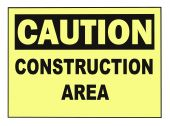picture of osha  - OSHA caution construction warning sign isolated on white - JPG