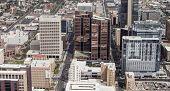 aerial shot of downtown Phoenix, Arizona, USA