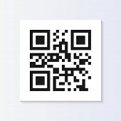 QR code tag illustration isolated. (EPS vector version also available in portfolio)