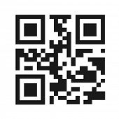 QR code illustration isolated. (EPS vector version also available in portfolio)