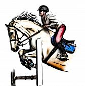 Show Jumping Illustration