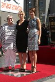 LOS ANGELES - MAR 17:  Kathy Bates, Kate Winslet, Shailene Woodley at the Kate Winslet Hollywood Wal