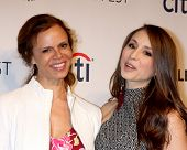 LOS ANGELES - MAR 16:  Deborah Pratt, Troian Bellisario at the PaleyFEST -