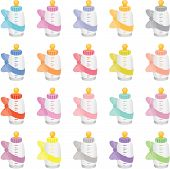 Colorful Baby Bottles
