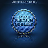 premium quality jeans label illustration