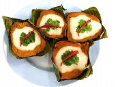 Thai food - steamed fish cake with curry paste