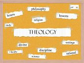 Theology Corkboard Word Concept