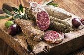 stock photo of salami  - salami - JPG