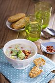 Broccoli and corn chowder