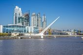Puerto Madero District In Buenos Aires, Argentina.