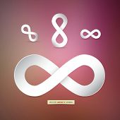 Vector Paper Infinity Symbols on Pink Background