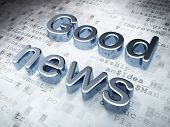 News concept: Silver Good News on digital background