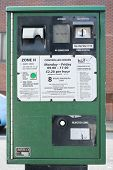LONDON, UK - MARCH 01: Green park meter in the borough of Hammersmith and Fulham. March 01, 2014 in London.