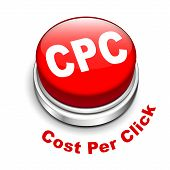 3D Illustration Of Cpc ( Cost Per Click ) Button