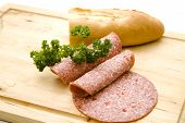 Fresh Salami with Baguette