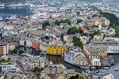 Alesund Norway - town houses on sea front