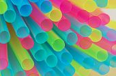 Multiple Colored Drinking Straws