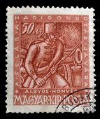 Old Hungarian postage stamp
