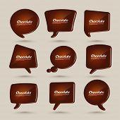 Vector Chocolate Speech Bubbles