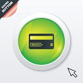 Credit card sign icon. Debit card symbol.