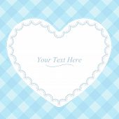 Heart Shaped Blue Frame