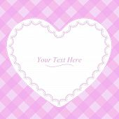 Heart Shaped Pink Frame