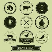 Menu Steak Label Design