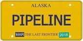 Pipeline Alaska License Plate