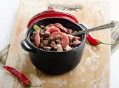 Stew Of Beans  And Smoked Sausages