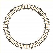 Infinity circle train railway track