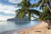Marimegmeg tropical beach in Palawan, Philippines